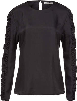 Tibi Blouse with Ruffled Sleeves