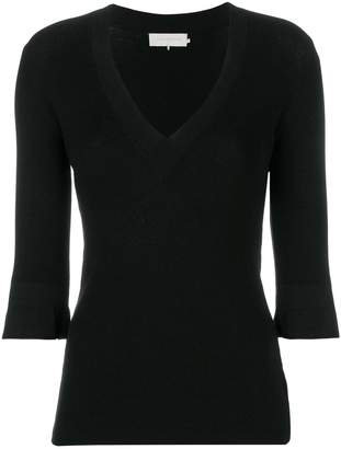 L'Autre Chose V-neck fitted sweater