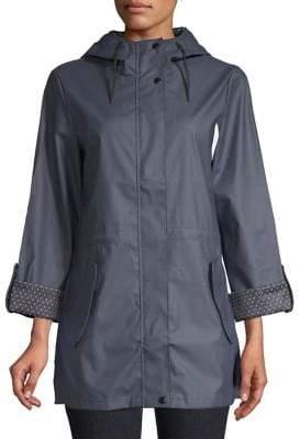 Dorothy Perkins Polka-Dot Lined Raincoat