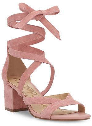 Sam Edelman Sheri Ankle Tie Block Heel Sandals $120 thestylecure.com