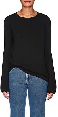 Barneys New York Women's Wool-Silk Bell-Sleeve Sweater - Black