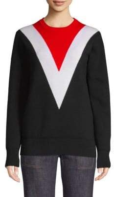 Derek Lam Knit Chevron Colorblock Sweater