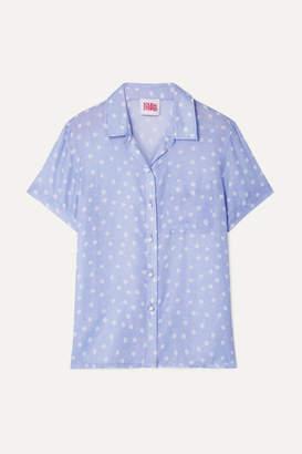 Solid & Striped Polka-dot Voile Shirt - Lavender