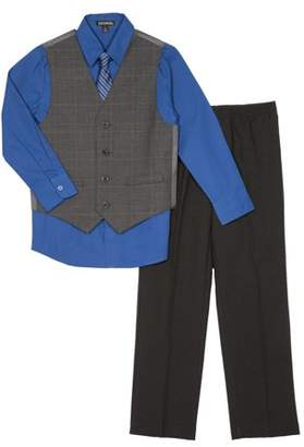 George Boys' Plaid Special Occasion Dress Outfit Set