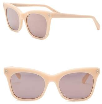 Stella McCartney 52mm Squared Cat Eye Sunglasses