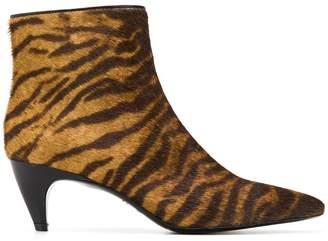 Twin-Set tiger print booties