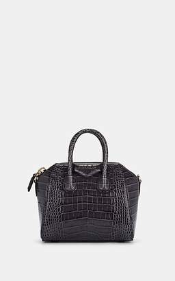 Givenchy Women's Antigona Mini Crocodile-Stamped Leather Duffel Bag - Gray