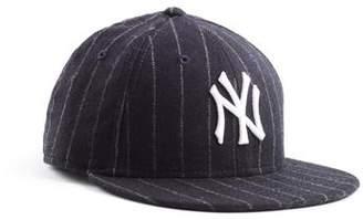 New York Yankees Todd Snyder + New Era Exclusive New Era Cap in Abraham Moon Navy Wool Chalkstripe