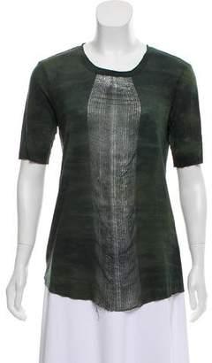 Raquel Allegra Tie- Dye Short Sleeve Top
