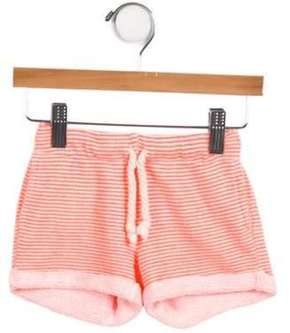 EGG Girls' Cuffed Striped Bottoms