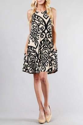 Cezanne Damask Tank Dress