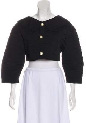 Chanel Cropped Matelassé Jacket