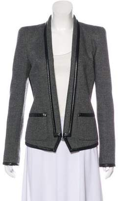 Barbara Bui Leather-Trimmed Casual Blazer