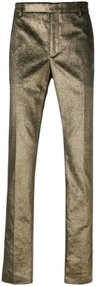 Saint Laurent metallic tailored trousers
