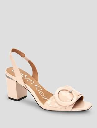 Calvin Klein claudia patent leather sandal