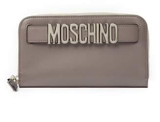 Moschino Leather Zip Around Wallet