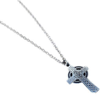 Celtic Carved Solutions Sterling Silver Cross Necklace