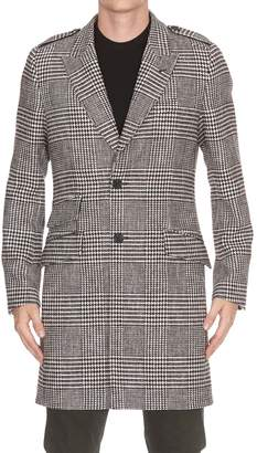 Dolce & Gabbana Houndstooth Trench Coat