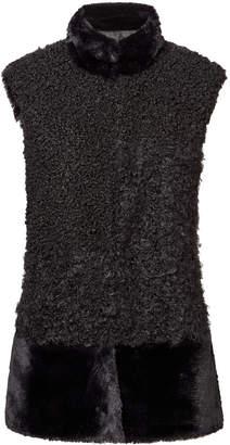 Sam Edelman Faux Fur Patchwork Vest