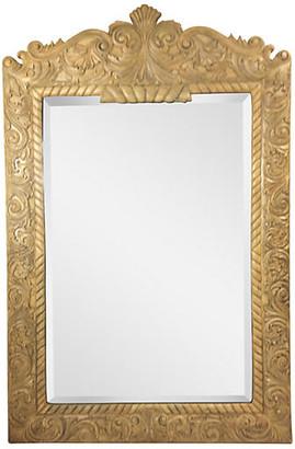 One Kings Lane Vintage Ornately Carved Wood Mirror - Von Meyer Ltd.