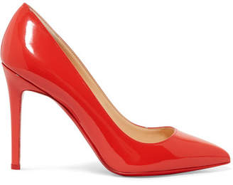 Christian Louboutin Pigalle 100 Patent-leather Pumps - Red
