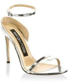 Sergio Rossi Leather Ankle-Strap Sandals