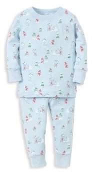 Kissy Kissy Baby Boy's& Little Boy's Snowy Forest Pajamas