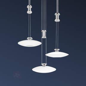 New Elina Nickel - LED-Hängel., Baldachin rund