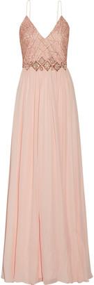 Badgley Mischka Embellished silk-chiffon gown $1,190 thestylecure.com