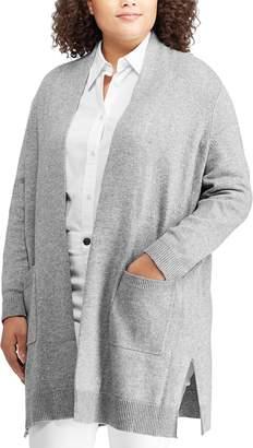 Chaps Plus Size Open Front Cardigan