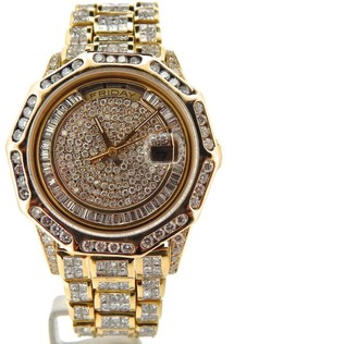 Rolex Day-Date 18238 18K Yellow Gold Super President 34ct Diamond Mens Watch $30,999 thestylecure.com