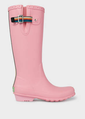 Paul Smith Women's Pink Rubber 'Idella' Wellington Boots