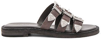 ALLSAINTS Gianna Slide in Charcoal $228 thestylecure.com