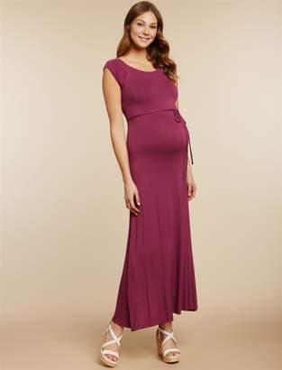 Jessica Simpson Motherhood Maternity Cross Back Maternity Maxi Dress