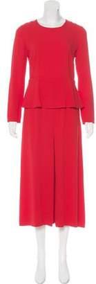 Giulietta Long Sleeve Cropped Jumpsuit