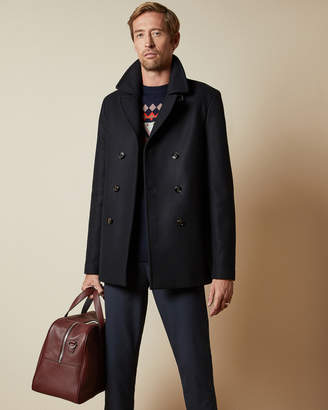 Ted Baker WESTUTT Tall double breasted wool peacoat