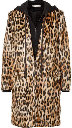 Alice + Olivia (アリス オリビア) - Alice + Olivia - Kylie Leopard-print Faux Fur And Cotton-jersey Coat - Leopard print