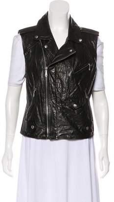 Rebecca Minkoff Leather Moto Vest
