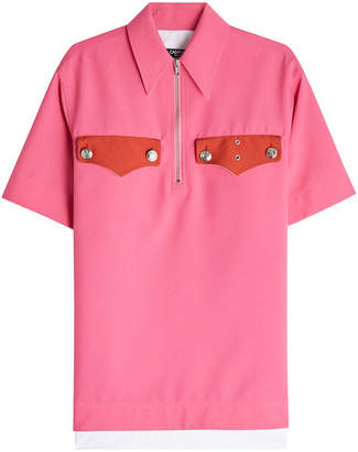 Calvin Klein Polo Shirt with Embossed Buttons