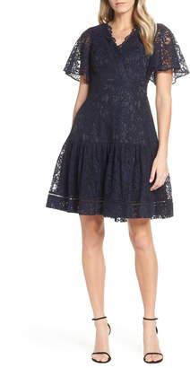 Eliza J Lace Fit & Flare Dress