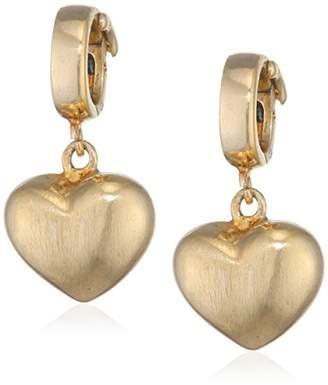 Lovelinks Gold Plated Sterling Silver Plain Heart Clip Charm Bead