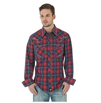 Wrangler Men's Rock 47 Long Sleeve Plaid Shirt