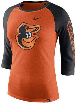 Nike Women's Baltimore Orioles Tri-Blend Raglan T-Shirt