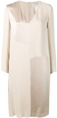 Max Mara draped long sleeve dress
