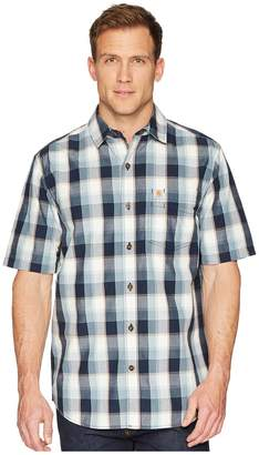 Carhartt Essential Plaid Open Collar Short Sleeve Top Men's Short Sleeve Button Up