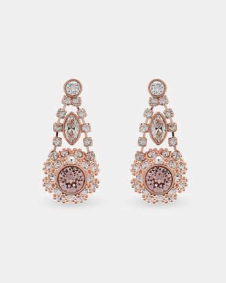 Ted Baker SOMAA Swarovski daisy lace drop earrings