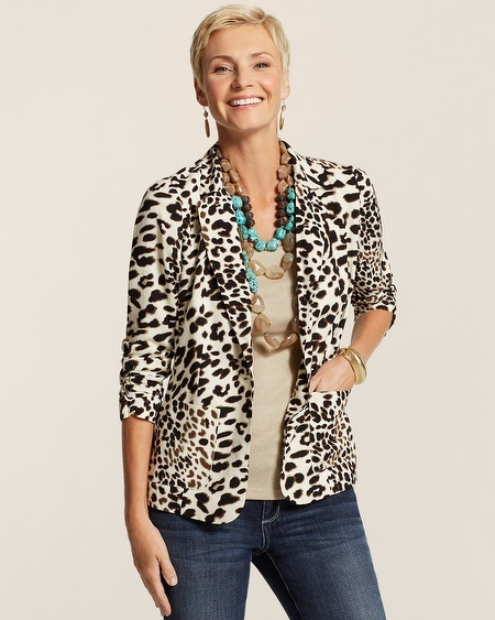 Chico's Soft Animal Blazer