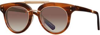 Cat Eye Mr. Leight Gradient Acetate Cat-Eye Sunglasses, Brown Pattern