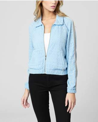Juicy Couture LACE ZIP-UP TRACK JACKET
