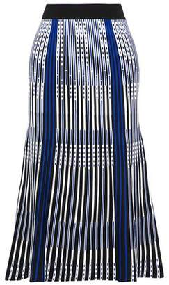 Roland Mouret Fluted Jacquard-Knit Skirt